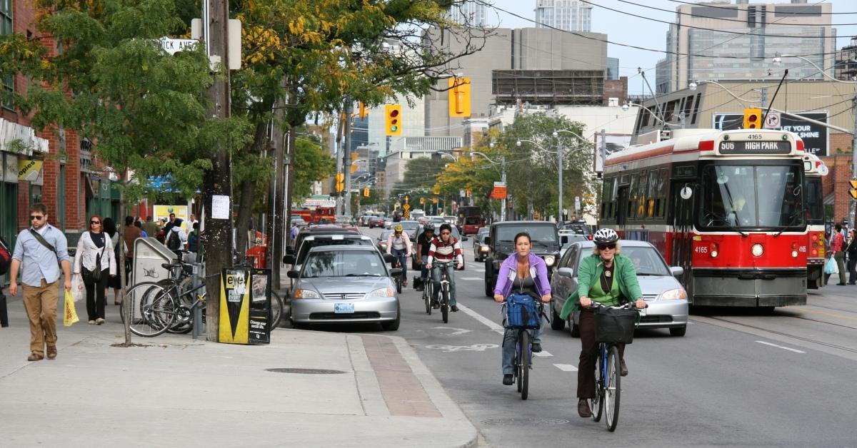College Complete Street PhotoStcar_cyclist_sidewalk_1